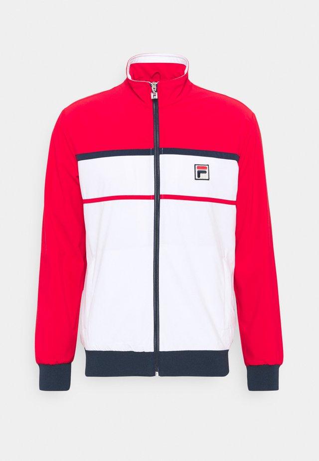 JACKET MAX - Sportovní bunda - white/red