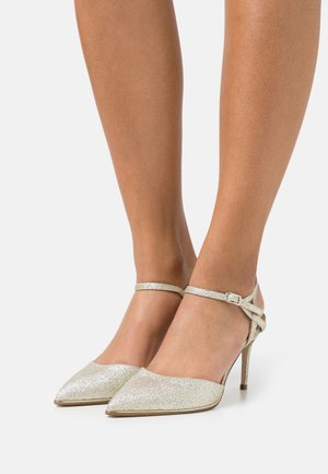 ELFIE TWO PART METAL RAND POINT COURT - Zapatos altos - gold
