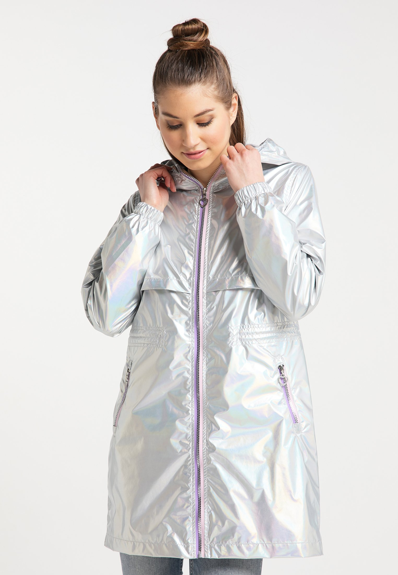 Explore Women's Clothing myMo Parka silver holographic BMXURratL