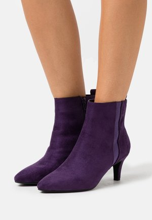 Ankle boots - purple