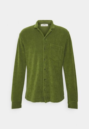 TOWELLING LONG SLEEVE UNISEX - Button-down blouse - green olive