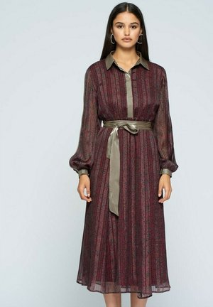 Shirt dress - burdeos