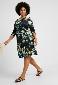 Evans - FLORAL FIT AND FLARE DRESS - Jersey dress - multi - 2