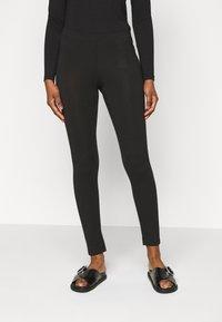 Even&Odd Petite - 2 PACK  - Leggings - black/mottled dark grey - 2