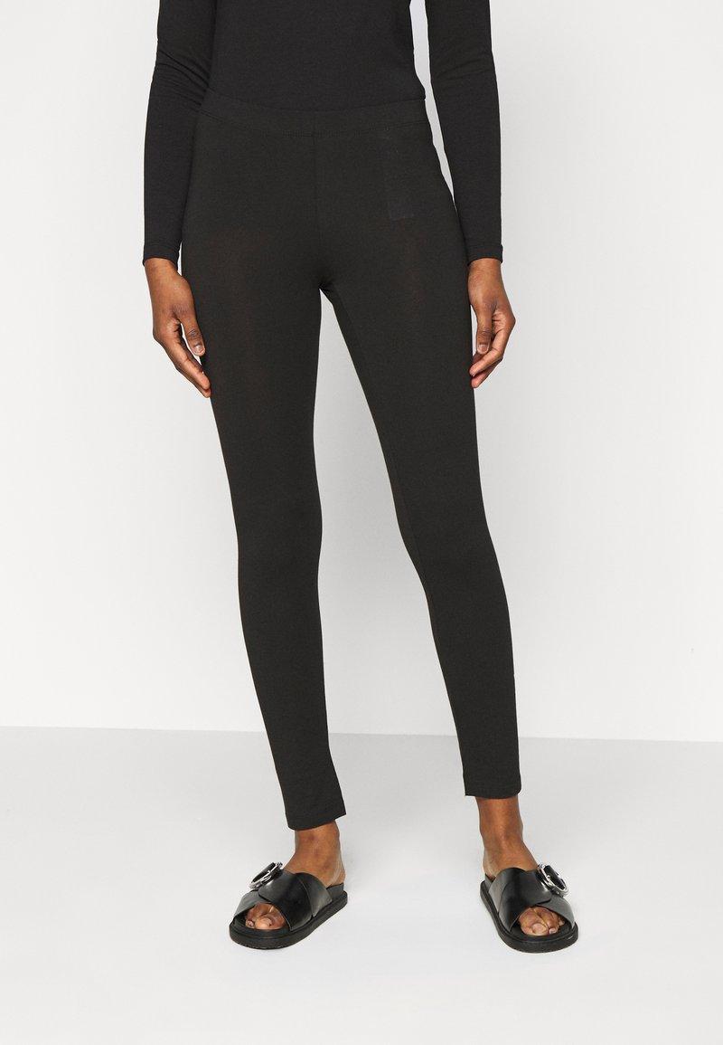 Even&Odd Petite 2 PACK - Leggings - Hosen - black/mottled dark grey/schwarz fSqkO5