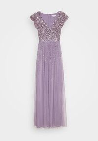 Maya Deluxe - V NECK FLUTTER SLEEVE DRESS WITH SCATTERED SEQUINS - Suknia balowa - lavender - 4