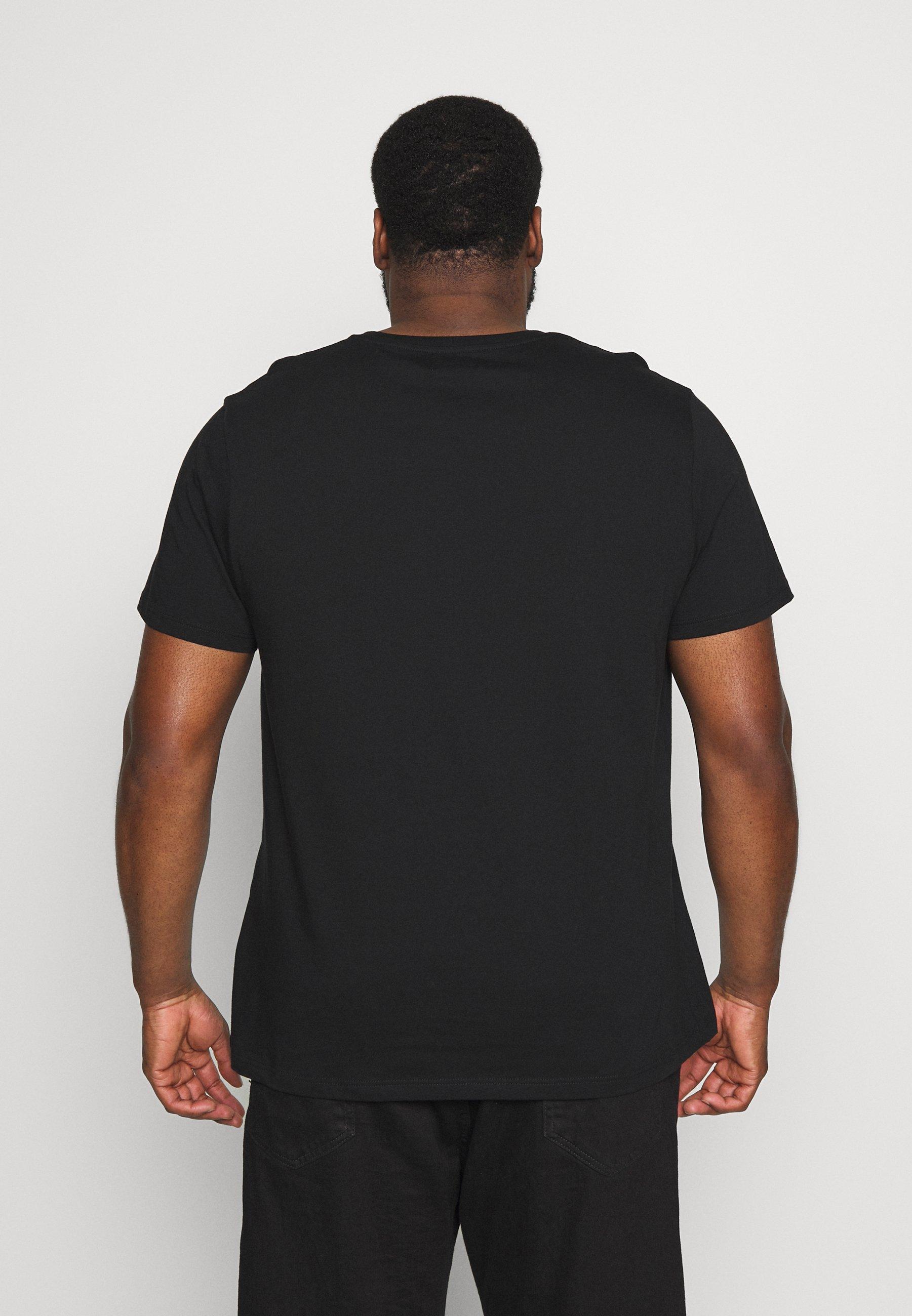 Topman CLASSIC 3 PACK - Basic T-shirt - black DhPNV