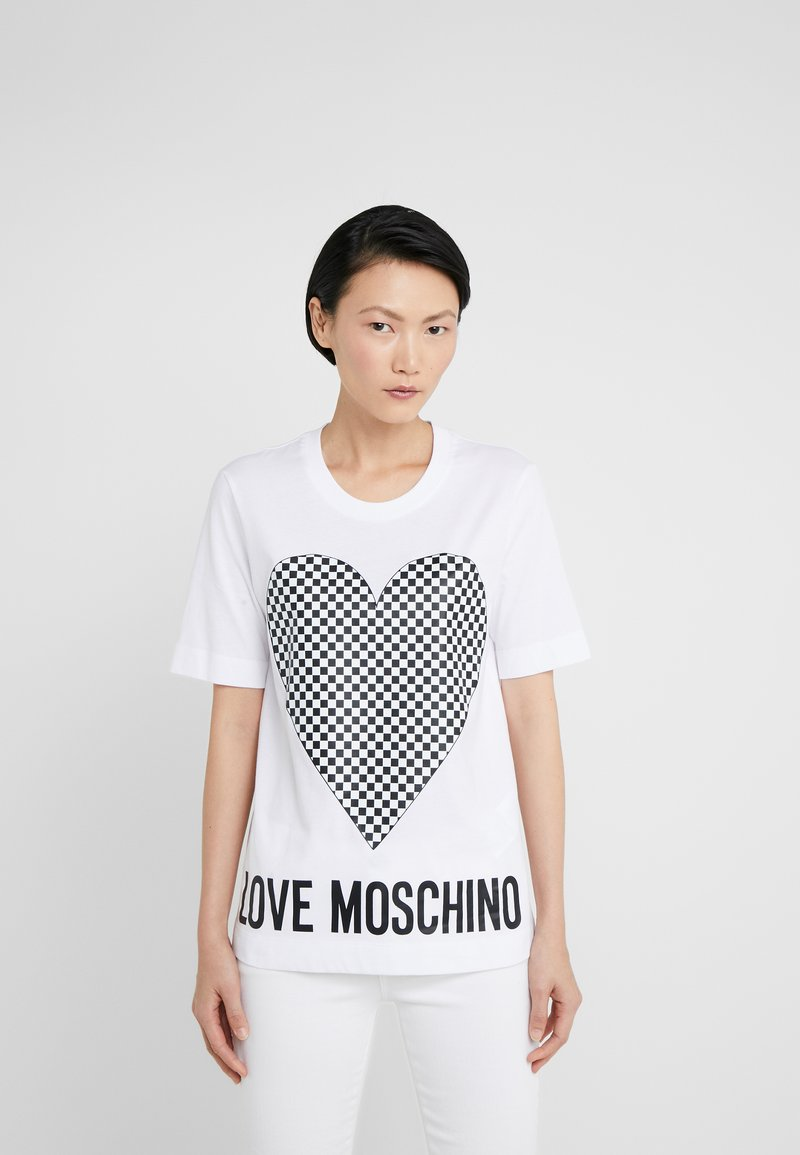Love Moschino - T-shirt print - optical white