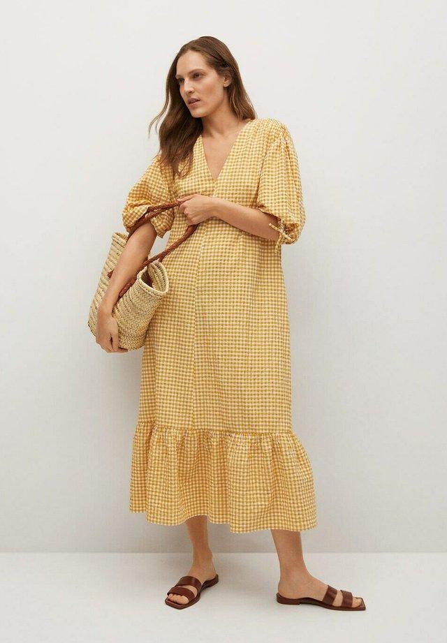 Korte jurk - senfgelb