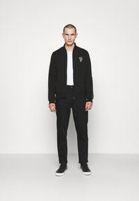 KARL LAGERFELD - ZIP JACKET - Zip-up sweatshirt - black - 1