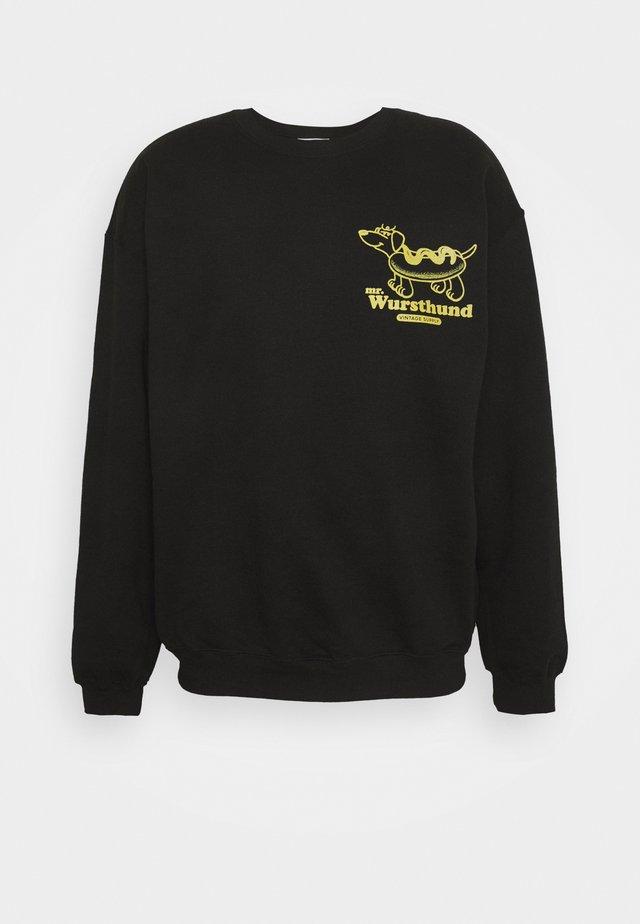 MR WURSTHUND SCHLAFT - Sweatshirt - black