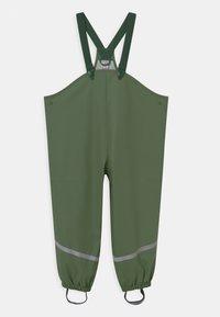 Lindex - MINI RAIN TROUSERS UNISEX - Rain trousers - dusty green - 0