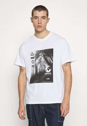 RELAXED FIT TEE BABYTAB - Print T-shirt - white