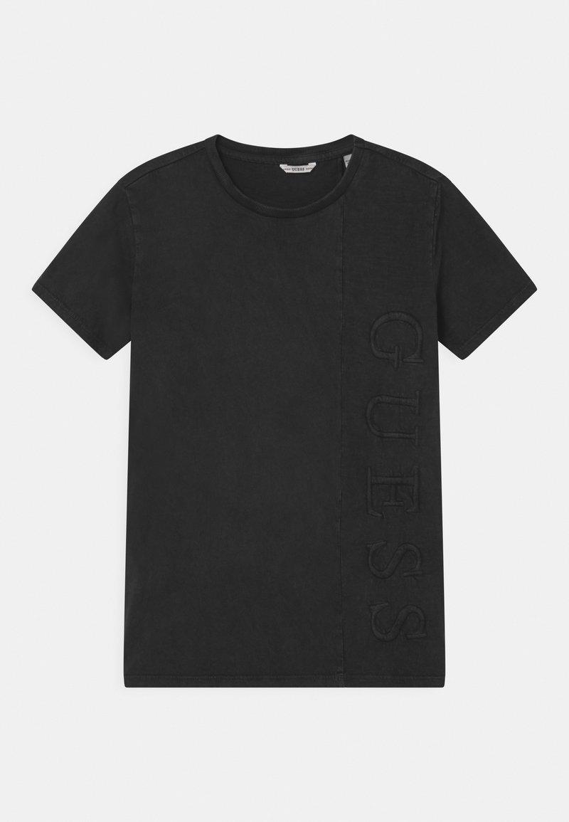 Guess - JUNIOR DYE  - Print T-shirt - jet black