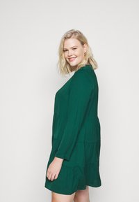 Missguided Plus - TIERED SMOCK DRESS - Day dress - green - 4