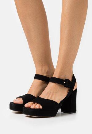 ODRAN - Platform sandals - black