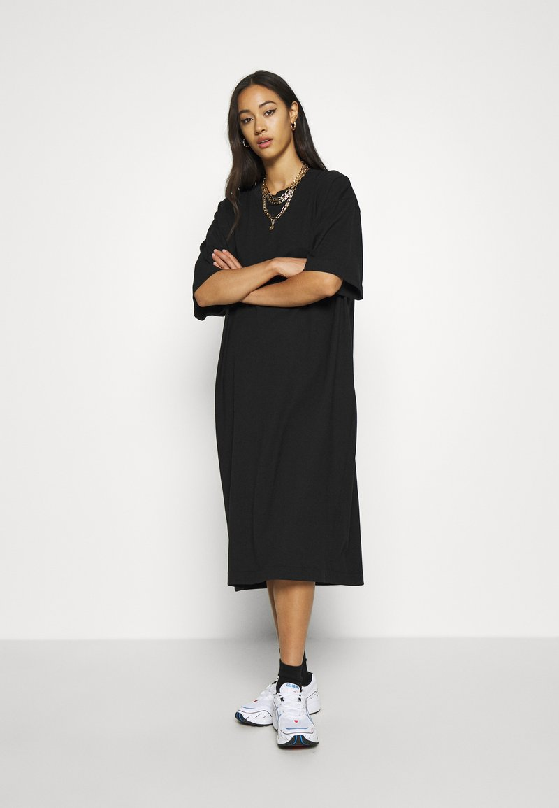 Weekday - INES DRESS - Jersey dress - black