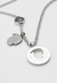 Diesel - DOUBLE PENDANT - Necklace - silver-coloured - 4