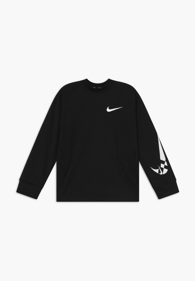COMFORT - Fleece jumper - black/white