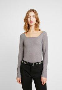 Glamorous - BODYSUIT 2 PACK - Long sleeved top - silver/black - 2