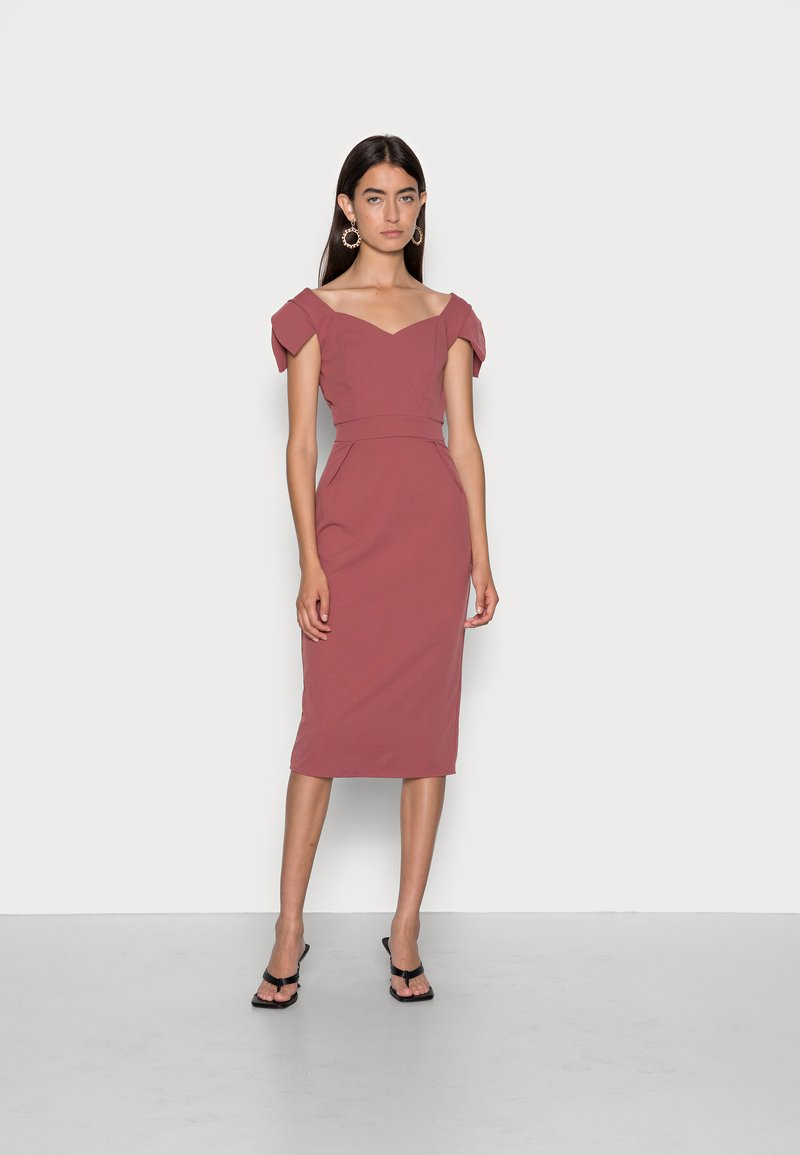 WAL G. - ANNIE MIDI DRESS - Cocktail dress / Party dress - dusty rose pink