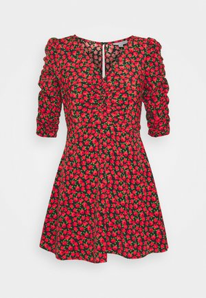 ROSE RUCHED FRONT - Day dress - red