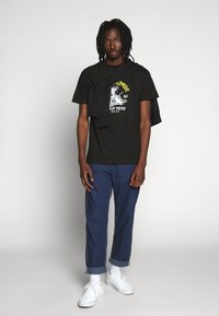 HUF - YEAR OF THE RAT TEE - T-shirt z nadrukiem - black