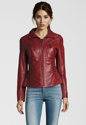 Leather jacket - blood red