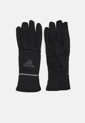 GLOVE UNISEX - Gloves - black reflective