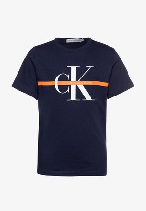 MONOGRAM STRIPE - T-shirt z nadrukiem - blue