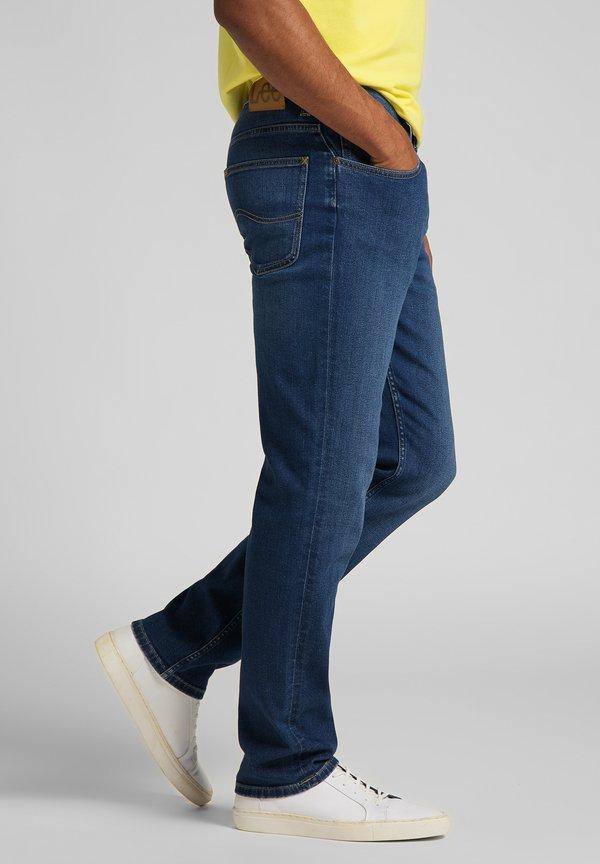 Lee Jeansy Straight Leg - mid worn in ray/niebieski melanż Odzież Męska NAKV