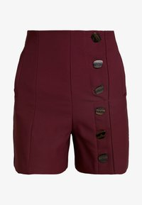 Lost Ink - BUTTON DETAIL - Shorts - burgundy - 3