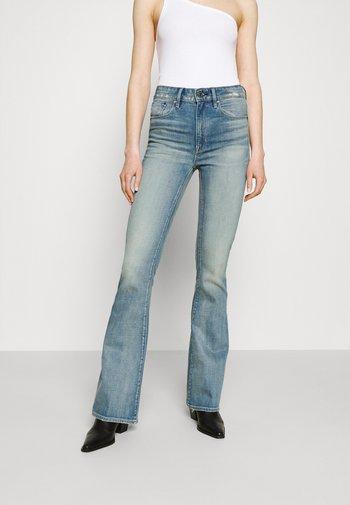 3301 HIGH FLARE - Flared Jeans - vintage cool aqua