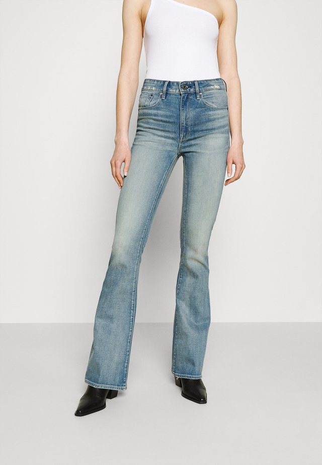 3301 HIGH FLARE - Flared Jeans - vintage cool aqua