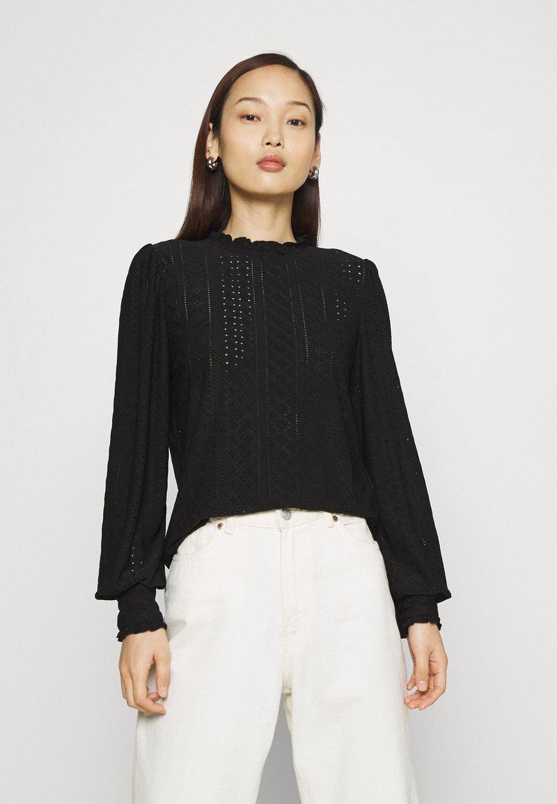 Vila - VIKATHY EMBROIDERY - Long sleeved top - black