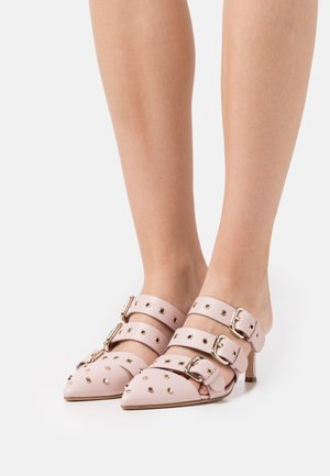 SHOES - Heeled mules - nude