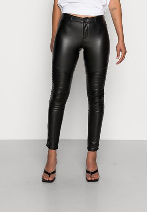 ONLROYAL MARIA BIKER - Leggingsit - black