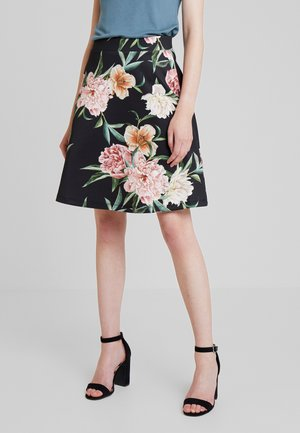 A-line skirt - black/rose