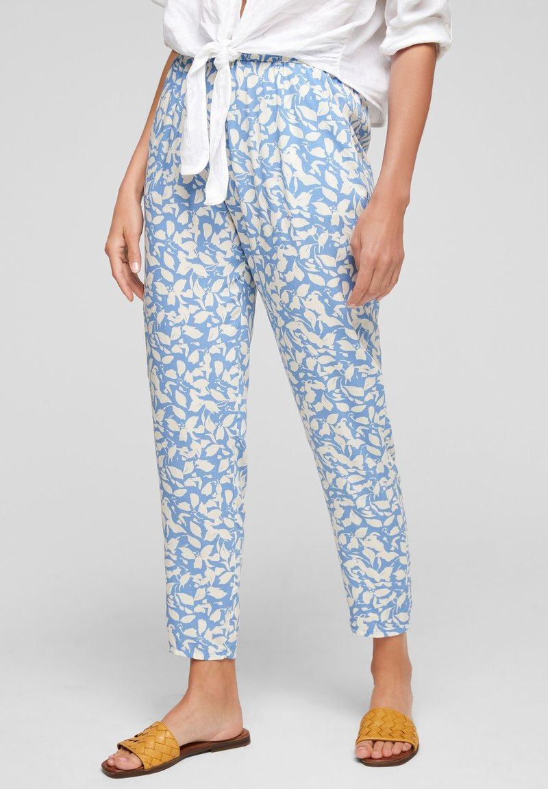 s.Oliver - Trousers - blue lagoon aop