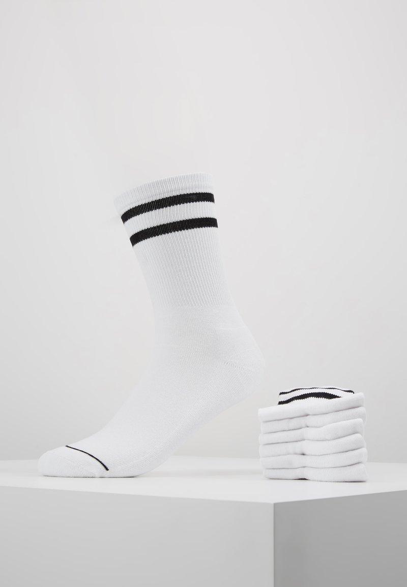 Urban Classics - 2-TONE COLLEGE SOCKS 6 PACK - Ponožky - white/black