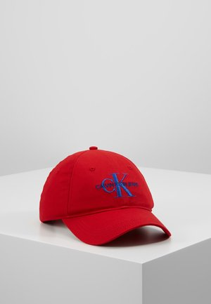 MONOGRAM WITH EMBROIDERY - Cappellino - red