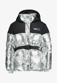 Tommy Jeans - BELTED JACKET - Winter jacket - silver - 3