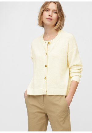 ROUND NECK - Cardigan - natural white