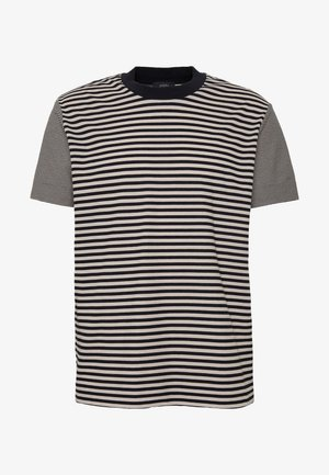 CREW STRIPED - T-shirt con stampa - camel combo