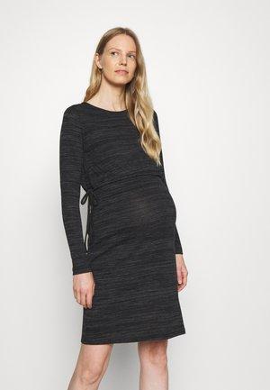 DRESS NURSING - Gebreide jurk - gunmetal