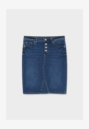 Pencil skirt - jeans-blau