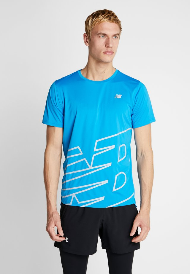 PRINTED ACCELERATE - T-shirts print - vision blue