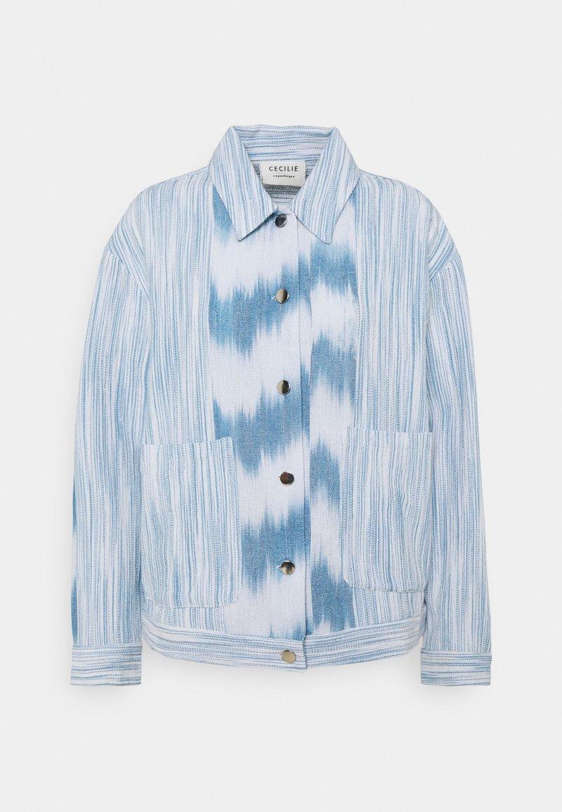 CECILIE copenhagen - AMALIA  - Summer jacket - denim/white