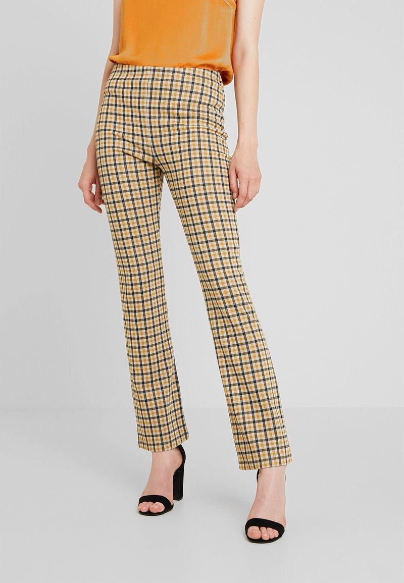 Vila - VIDIGAN FLARE PANT - Trousers - golden rod