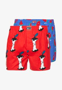Lousy Livin Underwear - APPLE MELONS 2PACK - Boxer shorts - red/royl - 3